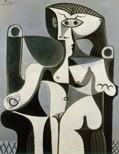 Pablo Picasso Femme Assise (Jacqueline) I first saw this painting in the movie The Island, and it's now one of my favorites. Pablo Picasso, Kunst Picasso, Art Picasso, Picasso Drawing, Picasso Famous Paintings, Picasso Blue Period, Cubist Movement, Art Visage, Art History