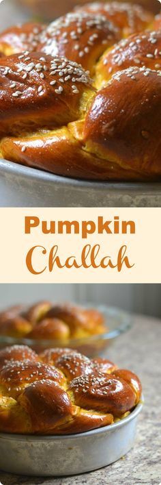 Pumpkin Challah | Slightly sweet, with a hint of pumpkin spice, this Pumpkin Challah is the perfect sweet bread to serve this holiday season. Find recipe at redstaryeast.com.