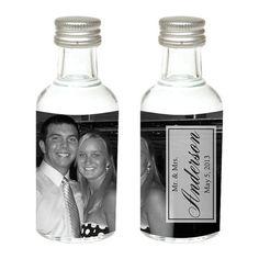 Full Photo Mini Bottle Wedding Favors