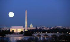 cool Washington DC Monuments Background Image