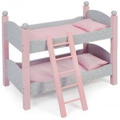 Łóżeczko dla dwóch lalek. Można używać jako piętrowe lub jako dwa oddzielne łóżeczka.