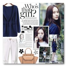 """Soo Jung"" by warna ❤ liked on Polyvore featuring Krystal, Rebecca Minkoff, Bobbi Brown Cosmetics, Essie, Hudson Jeans and SHAN"