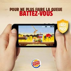 Burger King: Fight to skip the line mobile game