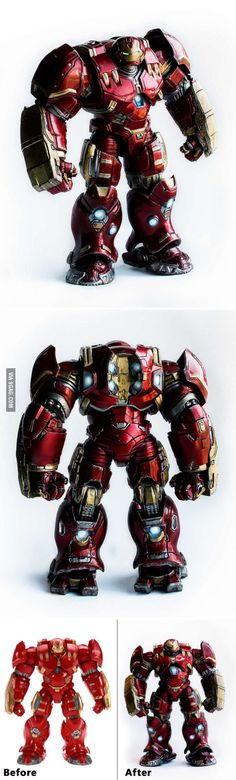 Iron Man Hulkbuster action figure repaint