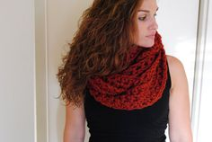HandCrocheted Chunky Brick Infinity Scarf by GarlicGirlEarrings