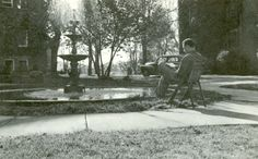 Adelphian Fountain Goshen College by Mennonite Church USA Archives