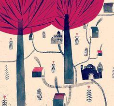 """좋아요 1,004개, 댓글 13개 - Instagram의 Fotini Tikkou(@fotinitikkouillustration)님: """"Working on new spread #children #book #illustration #illustrator #mixedmedia #collage #ink #art…"""""""
