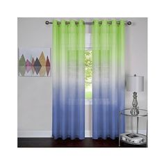 Rainbow Single Grommet Curtain Panel Green (£14) ❤ liked on Polyvore featuring home, home decor, window treatments, curtains, green, semi sheer panels, semi sheer curtains, grommet draperies, grommet drapery panels and grommet valance