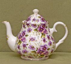 Berta Hedstrom-Heirloom Collection-Bone China Tea Ware ~ Pansy Chintz