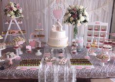 Mesa de dulces vintage Primera Comunión