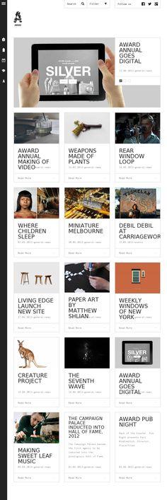 Unique flat, minimal design on this blog web site.