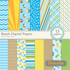 Free Scrapbook Paper Downloads | ... , summer digital scrapbooking paper, royalty free- Instant Download