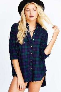 BDG Obie Flannel Button-Down Shirt: 1/5 for Outlanders this month.