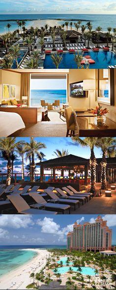The Cove Atlantis, Bahamas. Hotel com 11 piscinas, três praias de areia branca e suítes de luxo bem decoradas com vista para o mar. Diárias a partir de R$ 830,00. http://www.atlantis.com/accommodations/thecoveatlantis/cainatthecove.aspx