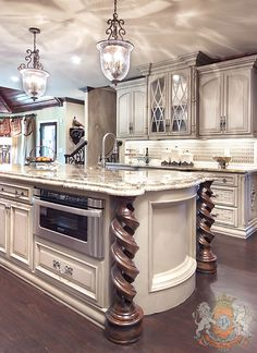 ~Grand Mansions, Castles, Dream Homes … Luxury Kitchen . ~Grand Mansions, Castles, Dream Homes & Luxury Homes- love the cabinet! Luxury Kitchen Design, Luxury Kitchens, Home Kitchens, Dream Kitchens, Small Kitchens, Custom Kitchens, Kitchen Small, Open Kitchen, Küchen Design