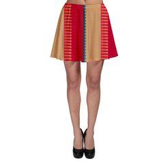 Stripes+and+other+shapes+Skater+Skirt
