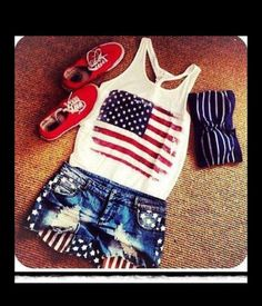 fourth of july ladies tops
