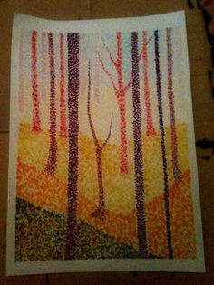 This website is in another language but the project is straightforward enough. Marker pointillism with value and depth.