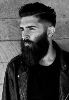 Long and full beard.