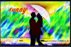 """Sunny – Bobby Hebb, 1966 Schöner kann man die Wirkung der Liebe nicht beschreiben als Bobb Hebb es in diesem Lied ausdrückte. Der Song war ein erfolgreicher Hit im Jahr 1966, allerdings für den Sänger auch """"One Hit Wonder"""". Mehr Text >> s. Website unten. Bildquelle: bykst/ https://pixabay.com/de/regen-liebespaar-mann-frau-paar-924286/"""