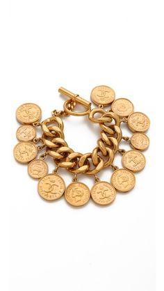 Vintage Chanel Coin Bracelet