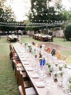 mismatched backyard wedding - photo by Rachel Solomon Photography http://ruffledblog.com/handcrafted-mismatched-backyard-wedding