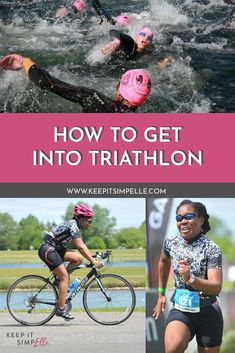 First Triathlon? How To Get Into Triathlon - keep it simpElle Swim Technique, Learn To Swim, I Can Do It, Triathlon, Need To Know, Get Started, Cycling, Health Fitness, Swimming