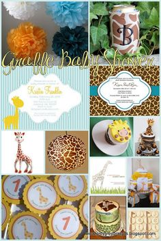 giraffe theme baby shower for my son