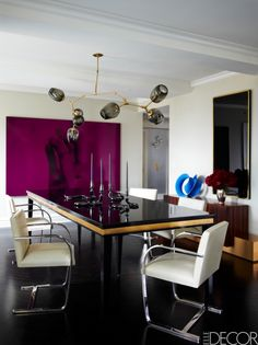 The giant purple painting.  House Tour: Ivanka Trump's Chic New York Apartment Featured In Elle Decor October 2012 (PHOTOS)
