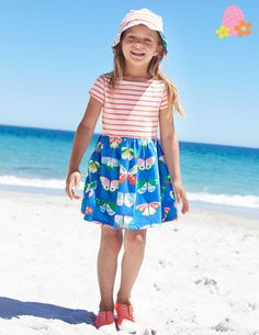 Butterfly Hotchpotch Jersey Dress 33333 Day Dresses and Pinnies at Boden Day Dresses, Nice Dresses, Girls Dresses, Cool Outfits, Summer Outfits, Mini Boden, Kid Styles, Summer Kids, Kids Fashion