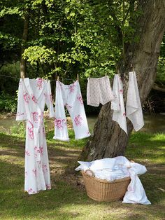 laundry day and pretty PJs! you will like the clothes line board this gal has. Has aprons too.