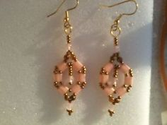 pink-Bicone-tila-Earrings-glass-beads