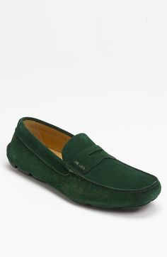 Prada Suede  #Nordstrom  Love a man in something slick and smooth. The money green just makes is more enticing