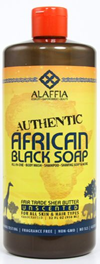 Authentic African Black Soap 32 oz - Unscented