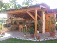 You're in the right place for decoration and remodeling ideas.Here you can find interior and exterior design, front and back yard layout ideas. Diy Outdoor Kitchen, Outdoor Oven, Backyard Kitchen, Outdoor Rooms, Outdoor Living, Outdoor Decor, Patio Pictures, Backyard Pavilion, Outside Living