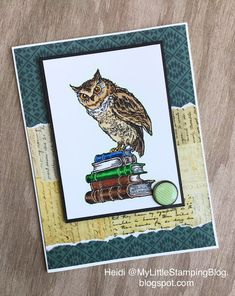 258 best owls cards crafting and photos images on pinterest in handmade greeting card from my little stamping blog 2018 back to school m4hsunfo