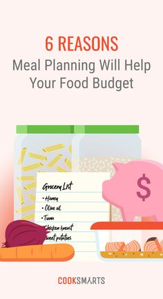 To reduce your monthly food budget, check out these 6 reasons why meal planning will help you save money on food each week. Budget Meal Planning, Food Budget, Cooking On A Budget, Budget Meals, Money Saving Meals, Save Money On Groceries, Ways To Save Money, Cook Smarts, Cooking For Beginners