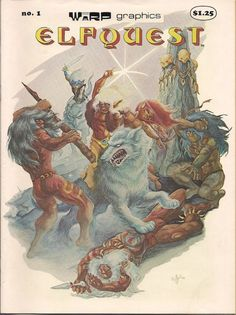 ELFQUEST #1 1979 WaRP Graphics Front Cover art by Wendi Pini