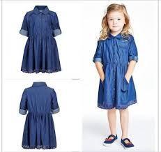 Resultado de imagen para vestidos de jeans para niña 2015 Short Sleeve Dresses, Dresses With Sleeves, Chambray, Outfits, Summer Dresses, Denim, Bella, Google, Fashion