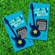 Hope Your Summer Rocks Tags; end-of-year favor tags