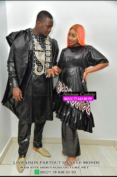 Couples African Outfits, African Attire, Couture, Beautiful Couple, Punk, Mens Fashion, Collection, Styles, African Fashion