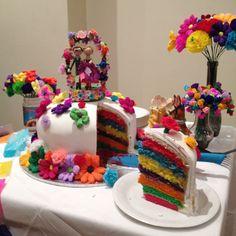 fiesta cake - 7 layers of rainbow glory