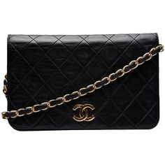 CHANEL VINTAGE Single flap bag ($184,885) ❤ liked on Polyvore featuring bags, handbags, shoulder bags, purses, bolsas, accessories, quilted shoulder bag, man bag, leather handbags and chanel handbags