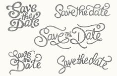 Claire Coullon // Save the Date - I love how the design thinking and process is shared in this article. Nice sketches ^_^