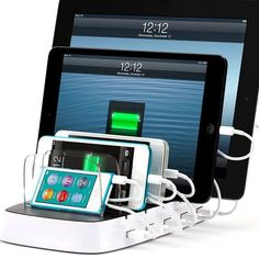 Charging Station for Apple Electronics! Ohhh yeah this would work in our family we got 3 iPod touches ( 2 gen 4 1 gen 3?) an iPhone 4S and an iPad air!!