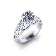 The woven engagement ring made in America by the artisans at Jewelry Designs!