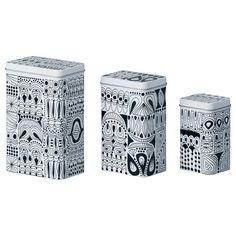 TRIPP Dose mit Deckel 3er-Set - IKEA