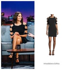 Jenny PackhamBow-Sleeve Sheath Cocktail Dress, Black #ninadobrev #nina #dobrev