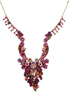 Setty Gallery - Michal Negrin Jewelry Victorian Pink Flowers Long Necklace, $577 (http://www.settygallery.com/michal-negrin/michal-negrin-jewelry-victorian-pink-flowers-long-necklace/)