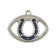 Alloy Rhodium Plated Enamel Color Finish Football Indianapolis Colts Charm